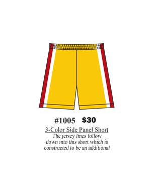 3 – Color Side Panel Shorts