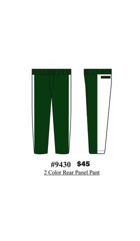 2 -Color Rear Panel Pant