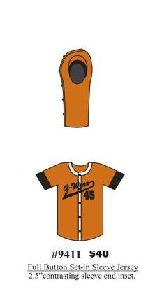 Full Button Set-in Sleeve Jersey