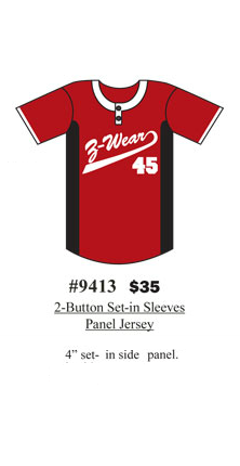 2-Button Set-in  Sleeves Panel Jersey