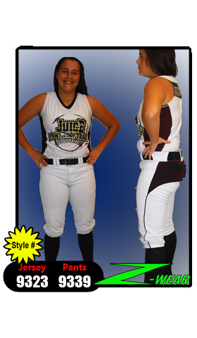 Starz V-Neck Softball Jersey. Custom Side And Back Insert