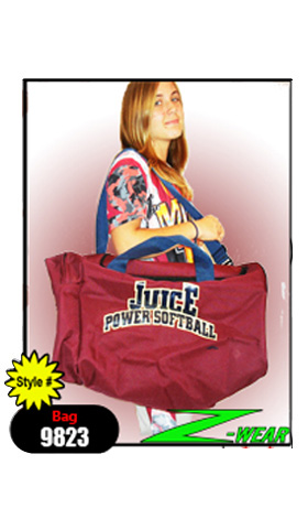 Softball Players Uniform and Equipment Bag
