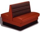Houston Industrial Upholstery - Red Booth